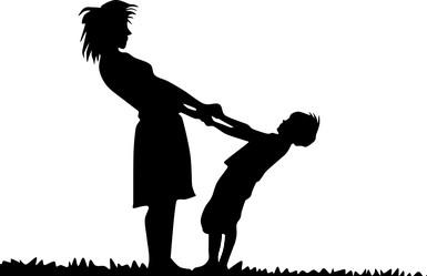мама воспитывает сына в игре
